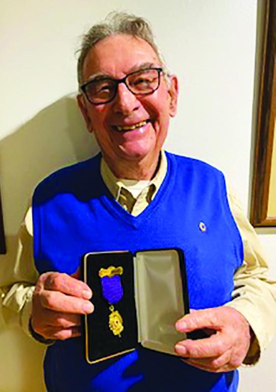 Jim Neider of Plain received a prestigious Senior Master Key & Medallionawardfor sponsoring 25 members to join the local Plain Lions...