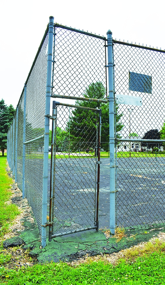 The tennis court at North Park in Spring Green is crumbling away. Over the years, the Spring Green Village Board has looked into repairing,...